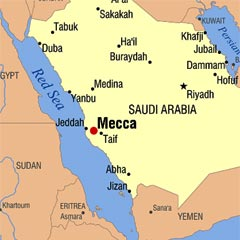 Where Mecca is - Map of Mecca online - knowing Mecca ...